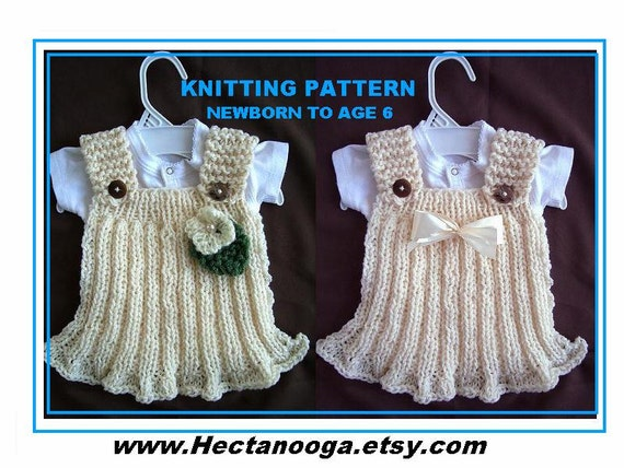 Knitting Pattern Rib Knit Girls Dress Knit Baby Dress Etsy