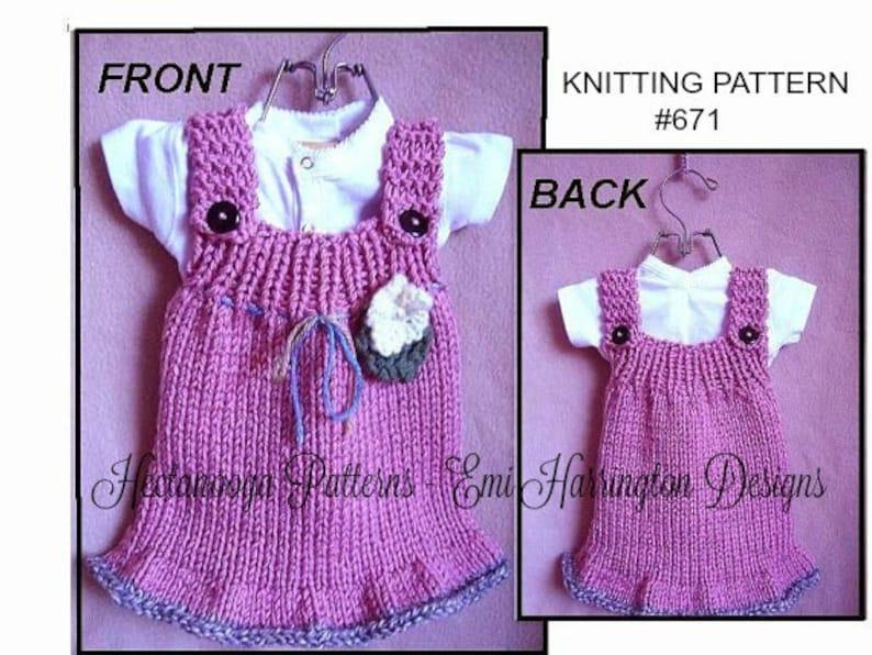 cc535382d Girls Dress sundress  jumper  or pinafore-baby dress KNITTING