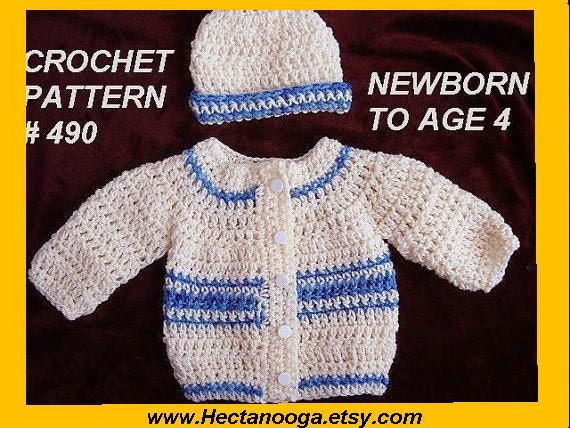 Crochet Pattern Unisex Baby Sweater Patterns For Babies Etsy