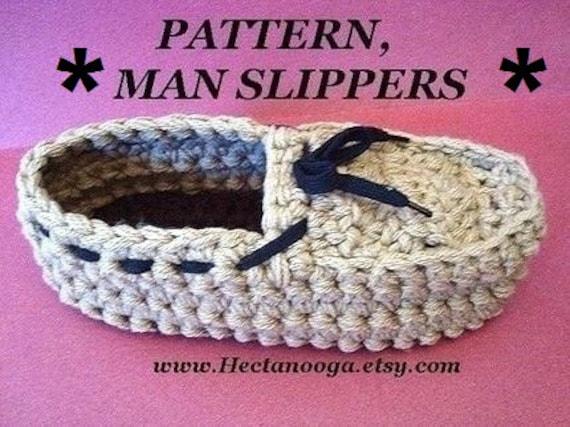 Crochet Slippers PATTERN Mens