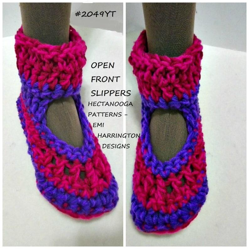 Crochet Slippers Pattern Open Front Slipper Easy Crochet Etsy