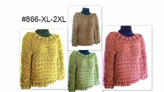 7a7d2380a45da CROCHET PATTERN Pullover SweaterChunky OverSized Sweater