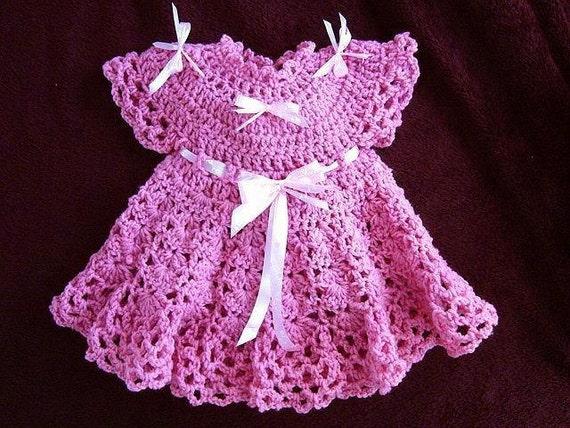 Crochet Baby Dress Pattern Girls Dress Patterns For Etsy