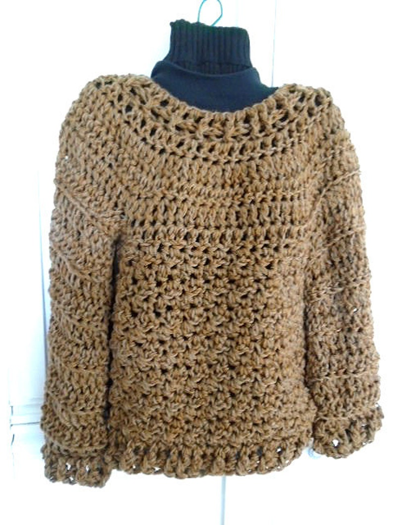 d20caac9d747 CROCHET PATTERN Pullover Sweater Chunky OverSized Sweater