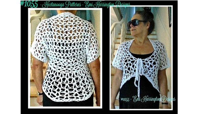 Crochet Shrug Pattern 2 Versions Included Omg Short Shrug Etsy