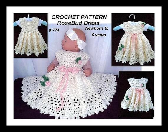 Crochet Pattern Baby Baby Girl Dress Crochet Baby Dress Etsy