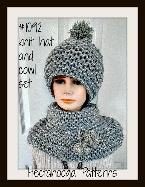 Hat Knitting Pattern Cowl Knitting Pattern Child Teen Etsy