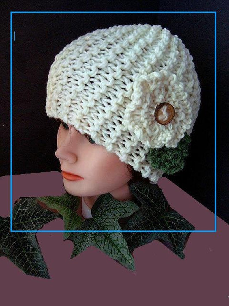 KNITTING PATTERN HAT Easy Beginner Knitted Touque Unisex ...