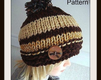 HAT KNITTING PATTERN, 424, Flapper Hat... teens, adult, women, accessories, clothing, permission to sell your finished hats.