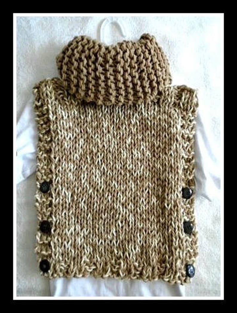 Easy knit poncho pattern poncho sweater 2 yrs Adult XXL   Etsy