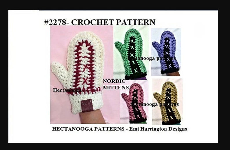 Easy crochet patterns nordic mittens 2278 image 0