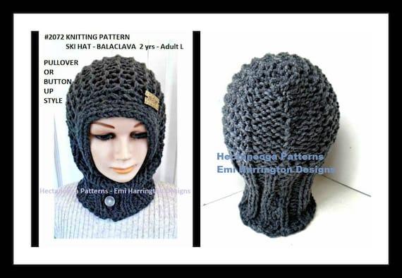 Knitting Pattern Ski Hat Balaclava Unisex Style Children Etsy