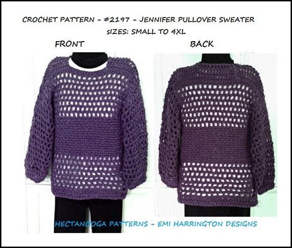 Crochet Sweater Pattern Summer Pullover Unisex Style Teens Men