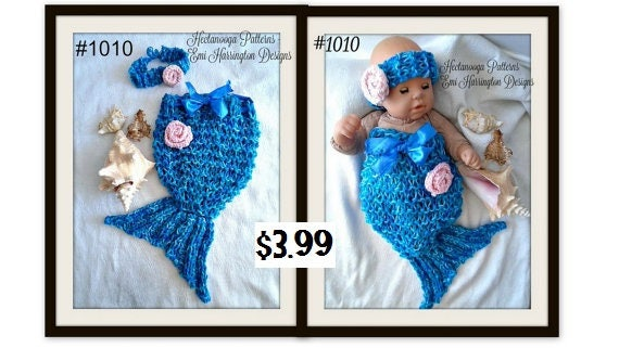 Knitting Pattern Mermaid Tail Photo Prop Fits Newborn To 6 Etsy