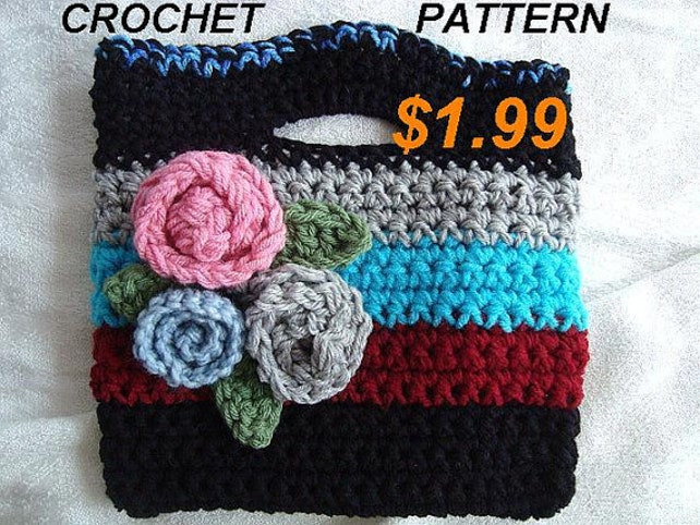 Crochet Bag Pouch Purse Crochet Pattern Pdf Easy Great Etsy