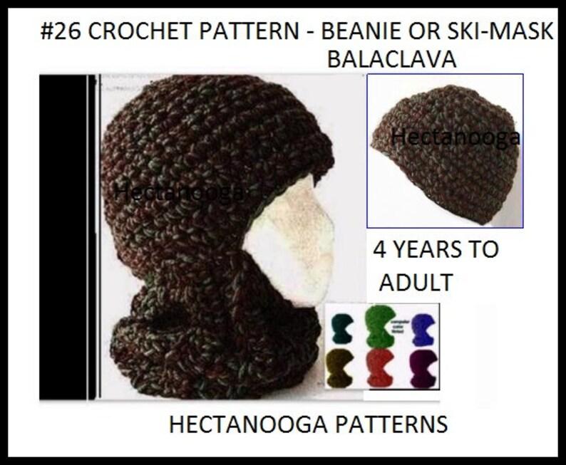 0df139395 Crochet HAT PATTERN, crochet ski mask, BALACLAVA, Ski Hat, adult, teen and  youth, hat crochet pattern, crochet pattern hat, #26