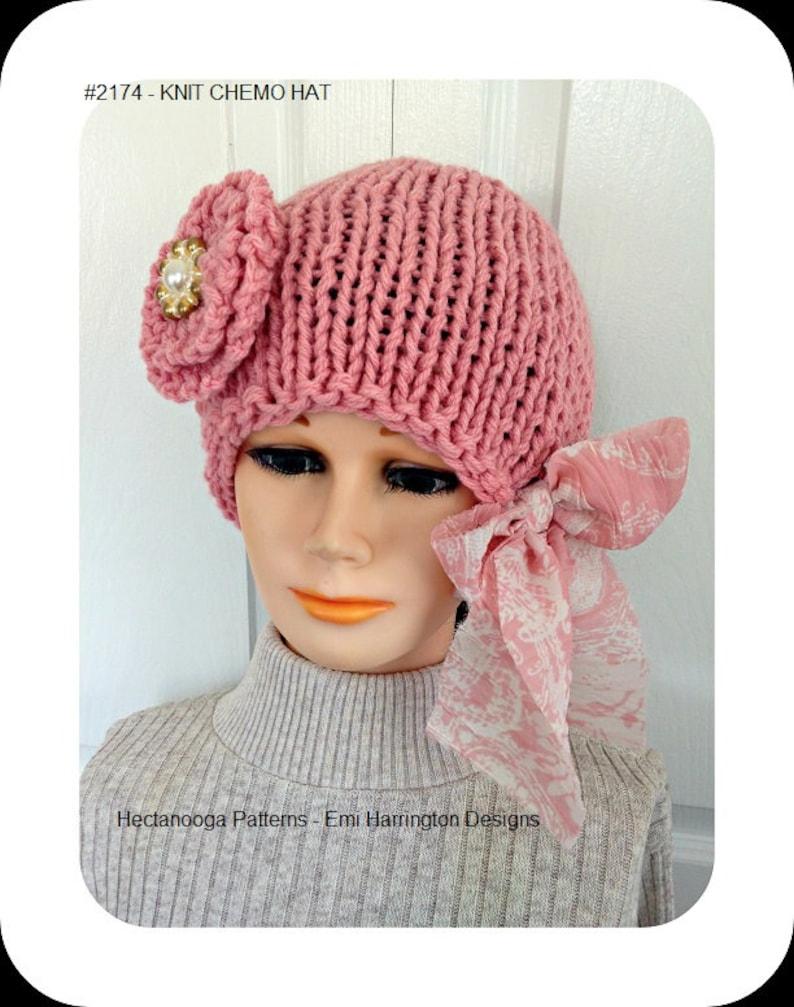 Easy KNIT CHEMO Hat Pattern hat knitting pattern knitting image 0