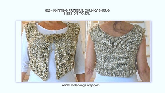 Shrug Knitting Pattern Instant Download Pattern Size Xs To Etsy