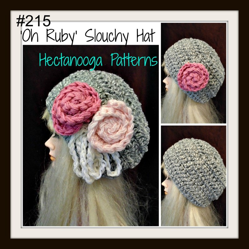 98231e0d3 crochet pattern hat, Red CHUNKY SLOUCHIE HAT num 215, by hectanooga on  etsy.Oh Ruby age 5 to adult, Free Crochet Pattern in description