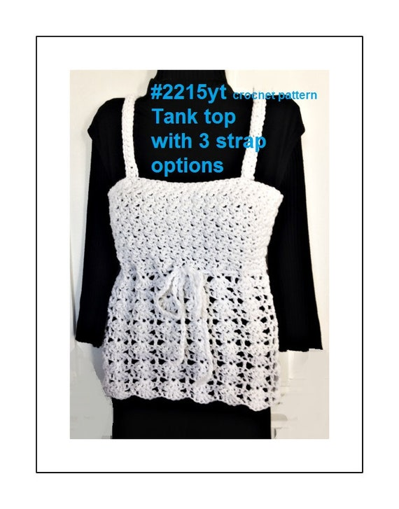 Crochet Tank Top crochet pattern Summer tops Summer
