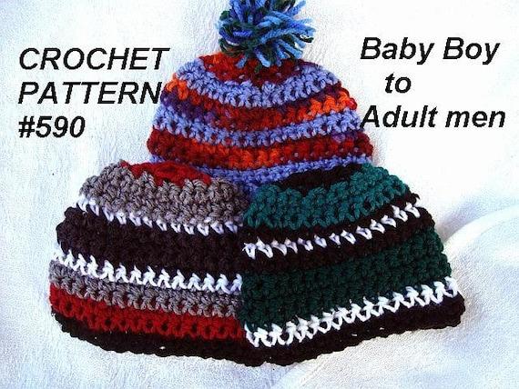 c9c06bb9fe954 CROCHET Hat PATTERNs. Beanie Hat Baby boys to men s
