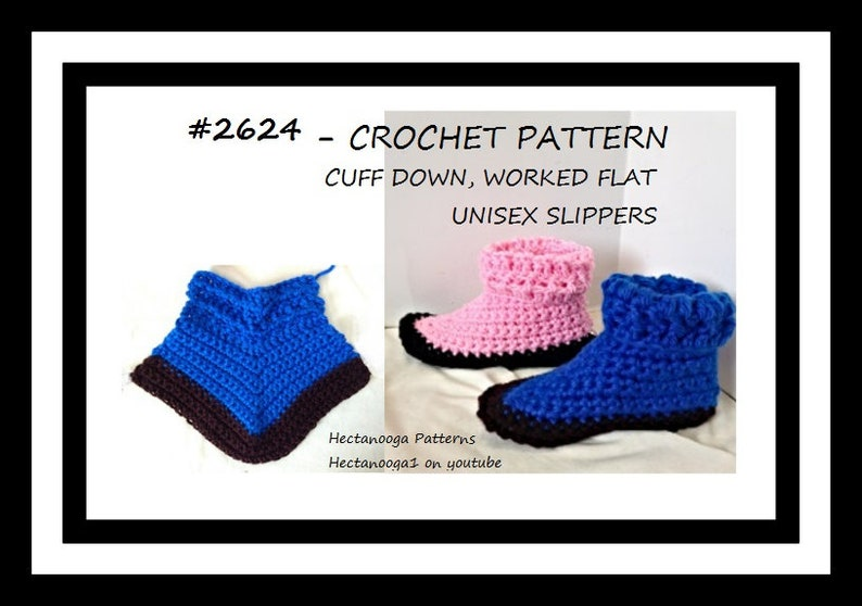 crochet pattern Unisex Slippers child-teen-adult Easy image 0