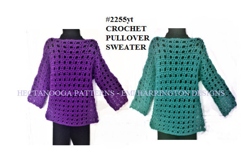 aa7bf788fc38 CROCHET PATTERNS pullover sweater crochet for women and