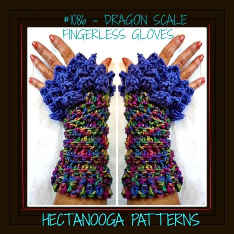 Crochet Pattern Fingerless Gloves Dragon Scale Mermaid Etsy
