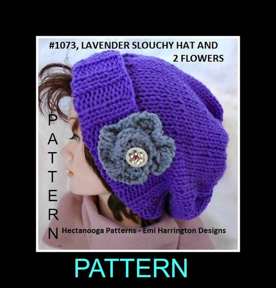 Knitting Patterns Knit Hat Pattern Easy Beginner Flat Knit Etsy