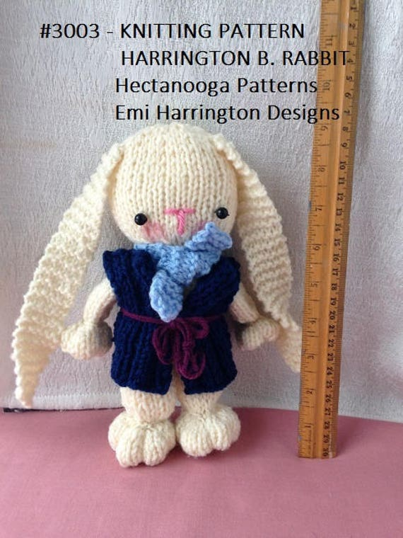Knit Bunny Pattern Knitting Patterns Bunny Clothing Etsy