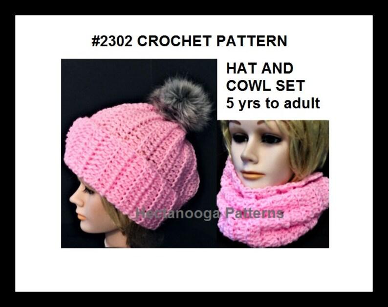 eb04f95b4 Hat CROCHET PATTERN , cowl crochet pattern, crochet hat and cowl pattern,  women, girls, teens, #2302
