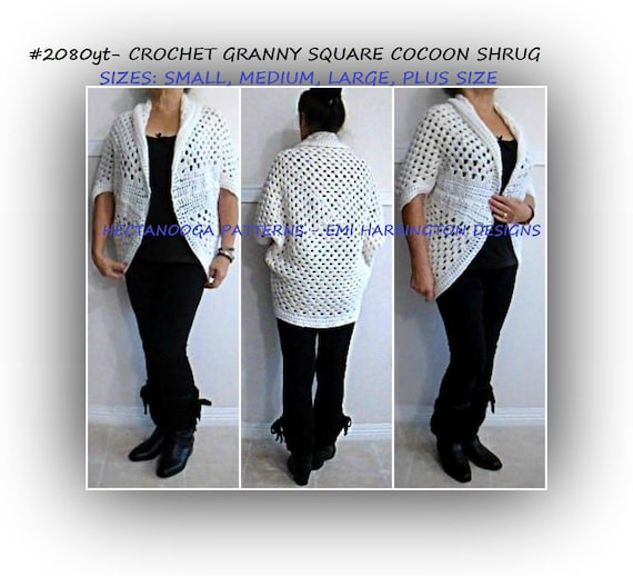 Pdf Crochet Pattern Cardigan Shrug Sweater Crochet For Etsy