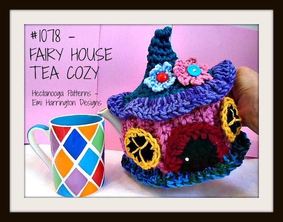 Crochet Pattern Tea Pot Cozy Cosy Fairy Pixie House Gnome Etsy