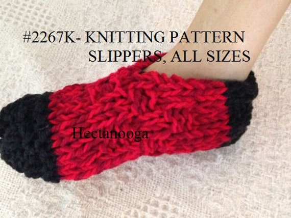 Knit Slippers Pattern 2 Yrs To Adult Xl Quick And Easy Etsy