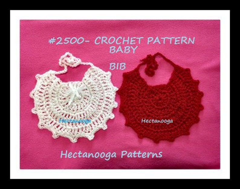 crochet patterns CROCHET BABY BIB Baby Shower Gift image 0