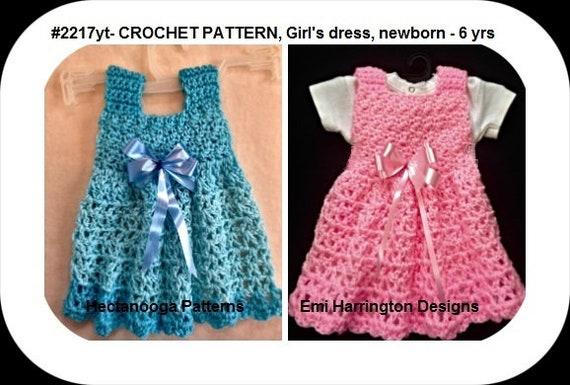 Crochet Baby Dress Pattern Girls Crochet Dress Toddler Etsy