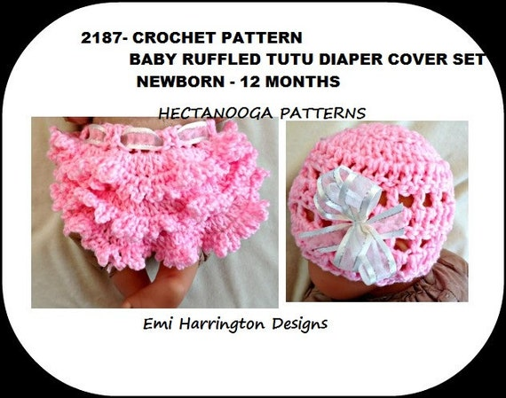 Crochet Diaper Cover Pattern Baby Set Hat And Soaker Tutu Etsy
