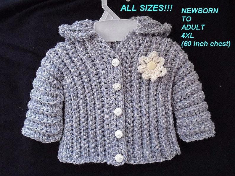 54ac6ea80 Sweater CROCHET PATTERN Unisex Comfort Sweater cardigan or