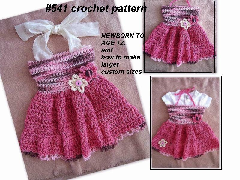 Crochet Pattern Baby Dress Girls Dress Newborn To Age 12 Etsy