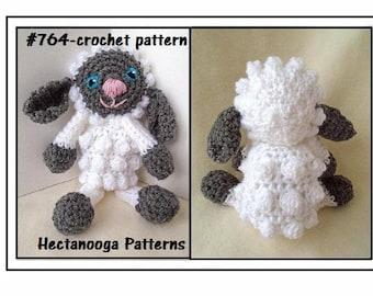 Crochet Pattern Little Baby Lamb Cuddle Blanket Baby Gift