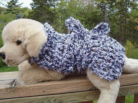 Crochet Pattern Adjustable Dog Coat Num 99 Make It Any Etsy