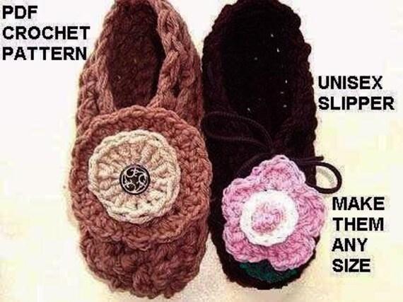 Unisex Slippers Crochet Pattern Easiest Slipper Pattern In Etsy