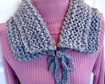 Knit Scarf PATTERN - Scarf Pattern #1118 - Knitting Pattern, Scarf with ties