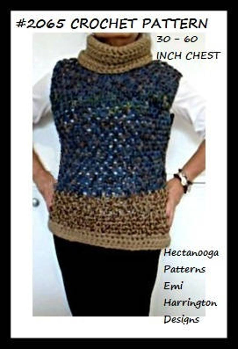 c9edfbb7acd2 Crochet sweater pattern chunky pullover tunic all adult