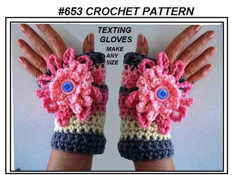 TEXTING gloves FINGERLESS gloves Crochet Pattern Easy | Etsy