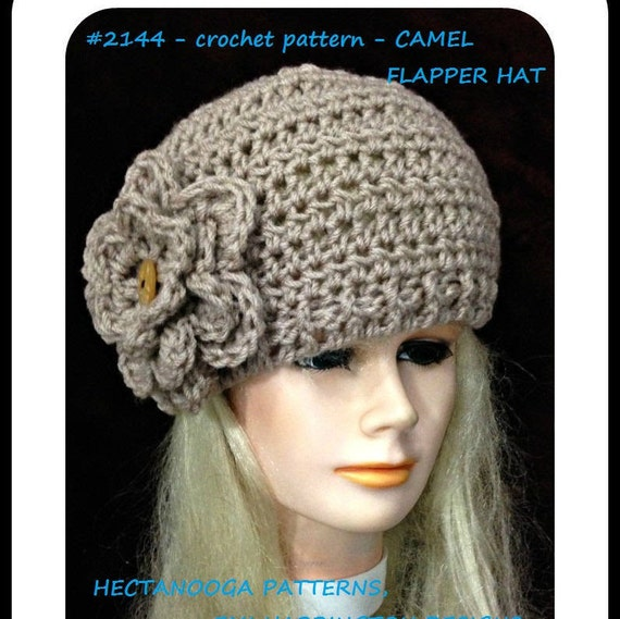 Crochet Hat Pattern Crochet Flapper Hat 5 Yrs To Adult