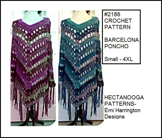Crochet Poncho Cape Pattern All Sizes From Small To 4xl Etsy