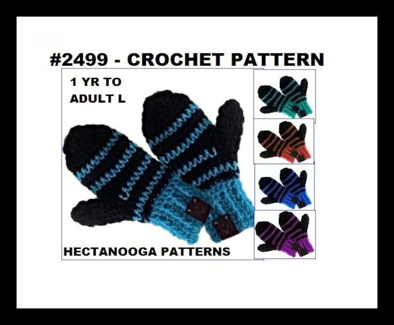 CROCHET MITTENS PATTERN Crochet Patterns for child toddler image 0