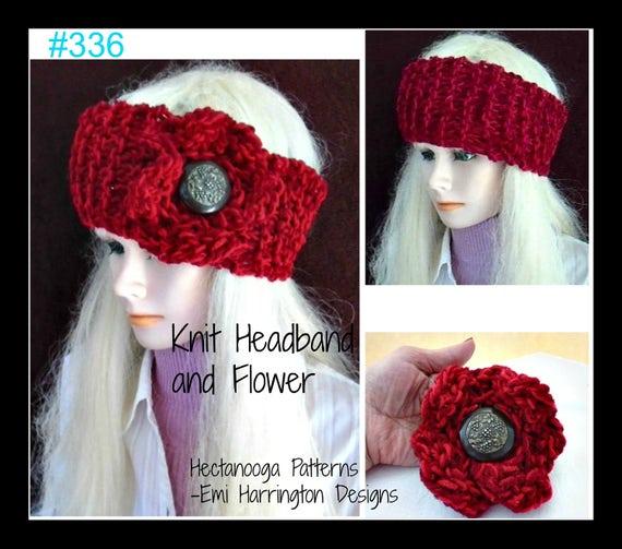 Headband Knitting Pattern Num 336 Easy Beginner Knitted Etsy
