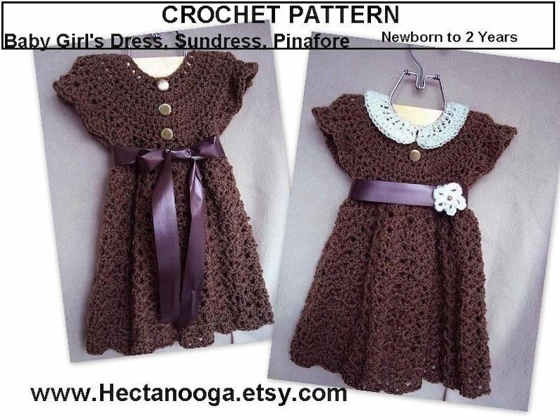 b36bdaac4 Girl s dress CROCHET PATTERN  baby girls dress Newborn